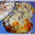 SOUFFLE DE CROZETS AUX CHANTERELLES ET TAILLERINS AUX MYRTILLES SAUCES CEPES ET MORILLES 