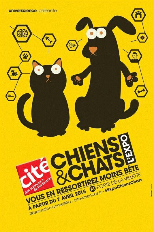 AFFICHE CHIENS & CHAT L'EXPO
