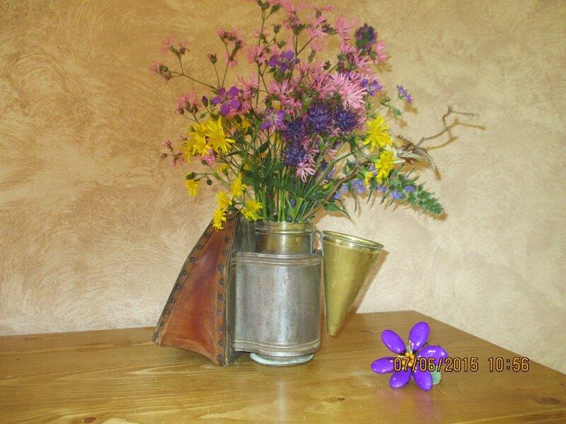 ce bouquet champêtre pour vous ,sur ce passez un bon dimanche,grosses bises a tous et toutes, amies de facebook♥