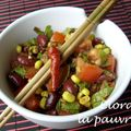 Reste de chili con carne en salade chinoise