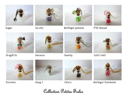 collection petites fioles