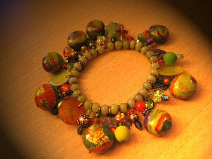 bracelet breloques (élastique) collection sixties - cadeau à Séverine
