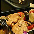 Sauté de porc aux cacahuètes et champignons noirs (défi placard n#14)