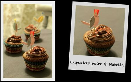 Cupcakes poire&amp;Nutella