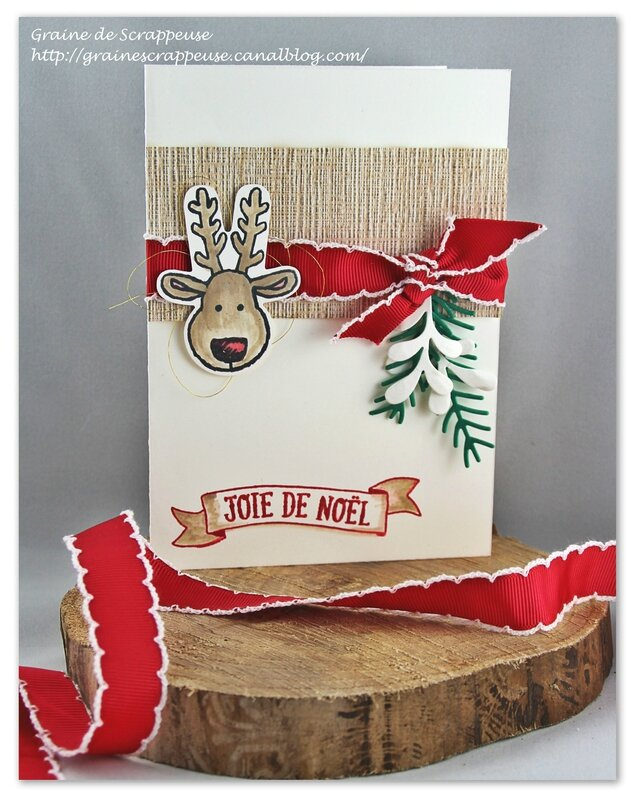 Carte de Noël Stampin'up