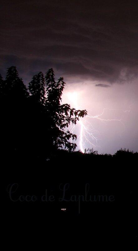 Les orages du soir dans la Drôme