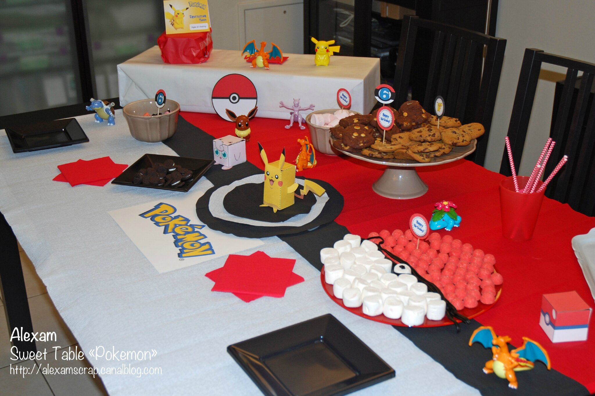 sweet table pokemon alexam. Black Bedroom Furniture Sets. Home Design Ideas