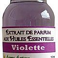 Extrait de parfum violette - perfume extract violette