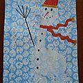 Bonhomme de neige - empreinte de pied - troisième épisode