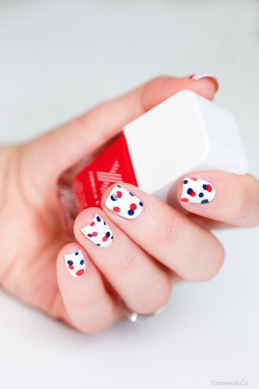nail art bleu blanc rouge-3