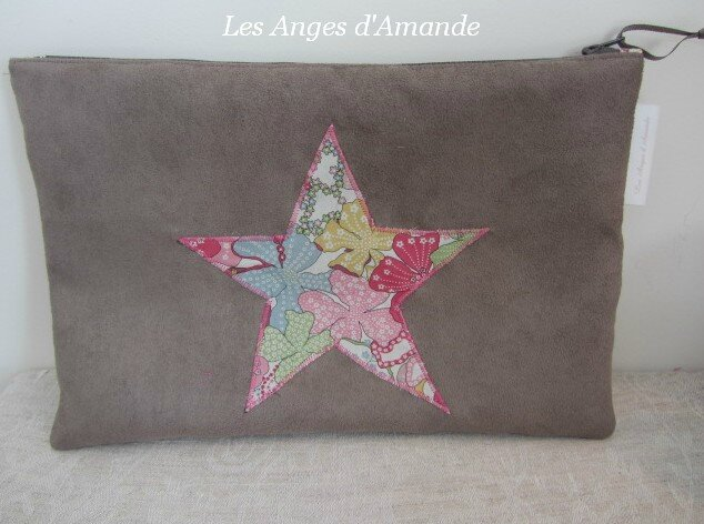 pochette liberty rose