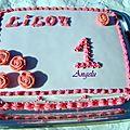 Gâteau tout rose 1er anniversaire