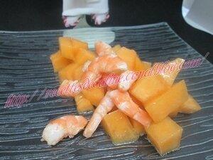 Salade de melon aux crevettes18