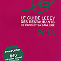 Guide lebey des restaurants de paris et sa banlieue 2013