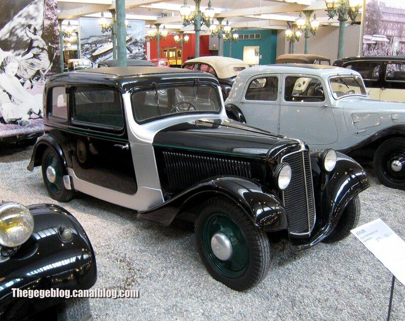 Adler trumpf junior coach de 1936 (Cité de l'Automobile Collection Schlumpf à Mulhouse) 01