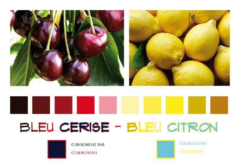new look ou de la d finition des couleurs bleu cerise bleu citron. Black Bedroom Furniture Sets. Home Design Ideas