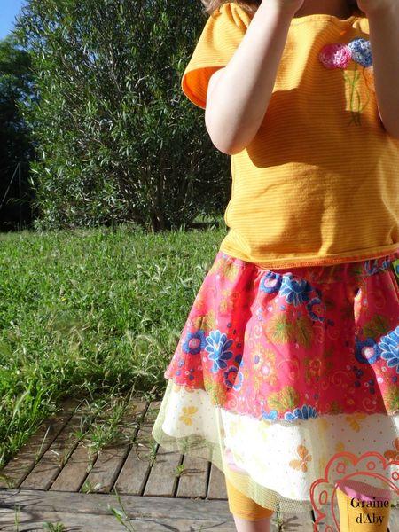 Orange fleurie et Kitourne aux papillons fleuris