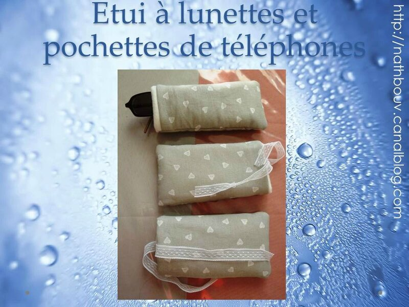 pochette de t l phone et tui lunettes les cr as de nathbouv. Black Bedroom Furniture Sets. Home Design Ideas