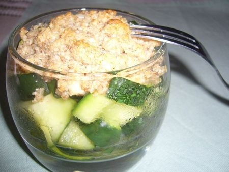 crumble concombre
