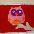 trousse velours rouge chouettes (6)