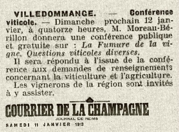 1913 12 Janvier Conférence