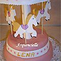 Gâteau Carousel manège 3D bas