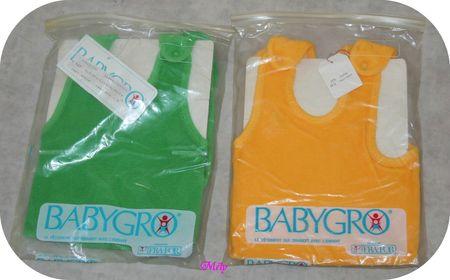 Babygro Vert et jaune