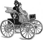 free vintage digital stamp_electric carriage
