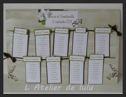 plan de table de mariage arabesque orchidees