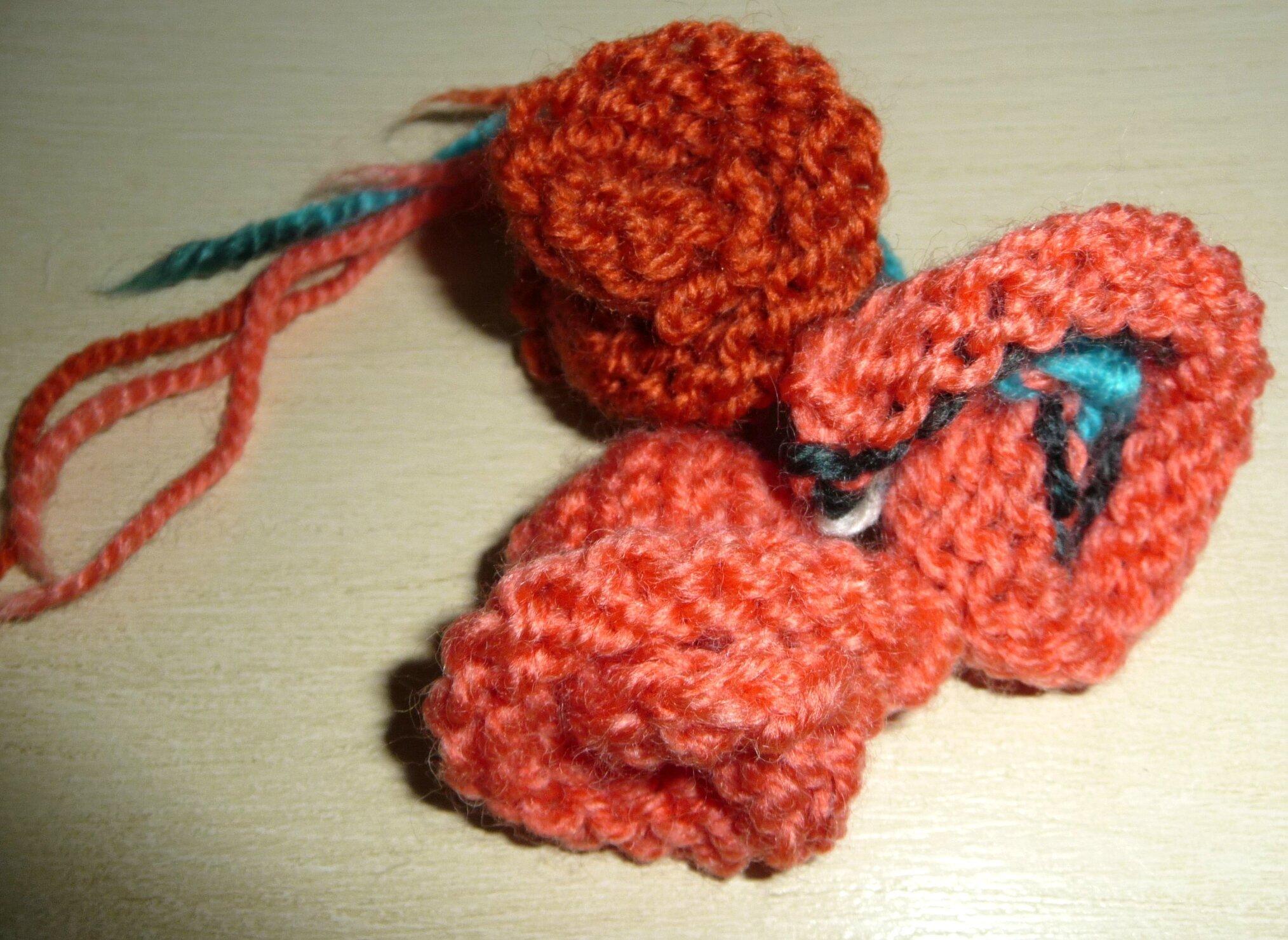 tricoter une echarpe fleur