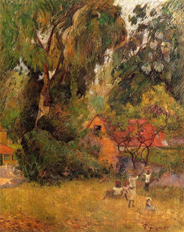 1887 - Huttes sous les arbres