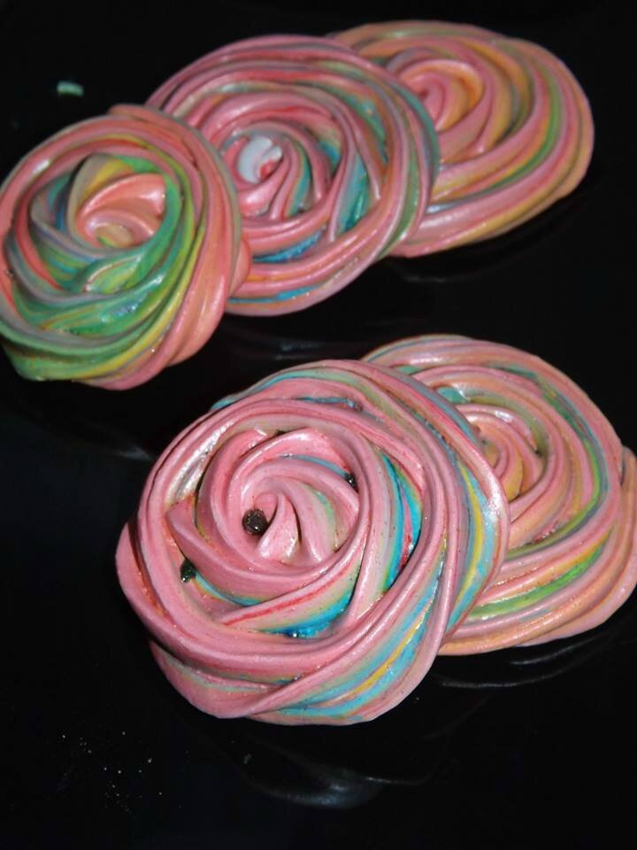 Meringue multicolore