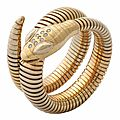 Flexible Gold Snake Bracelet, 1970s