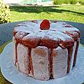 Charlotte aux fraises ou charlotte aux framboises version individuelle ou grand format