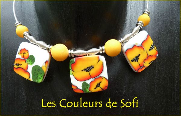 Collier jaune copie