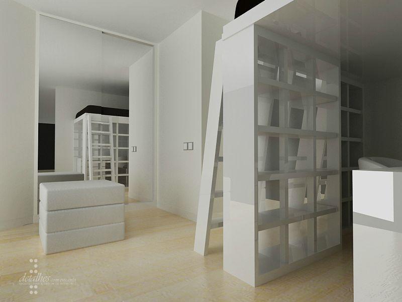 Chambre ado espace mezzanine projet en 3d stinside architecture d 39 i - Chambre en mezzanine ...
