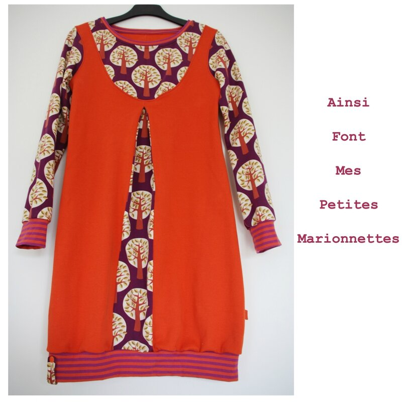 robe orange arbre 4