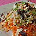 Salade de carottes et courgettes