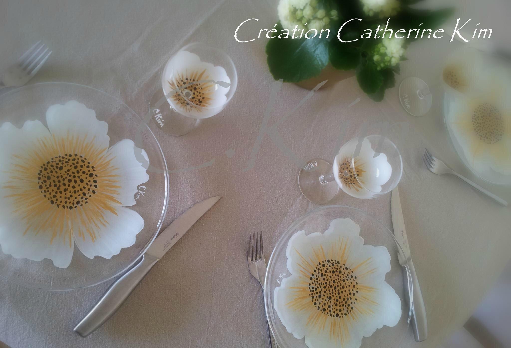 """Mon service """"Flora blanc et doré"""" ..."""