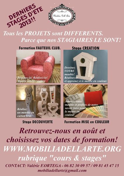 affiche stages Aout 2013