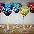 Suite de 5 verres saint louis adour