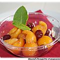 Boules de melon aux griottines de fougerolles