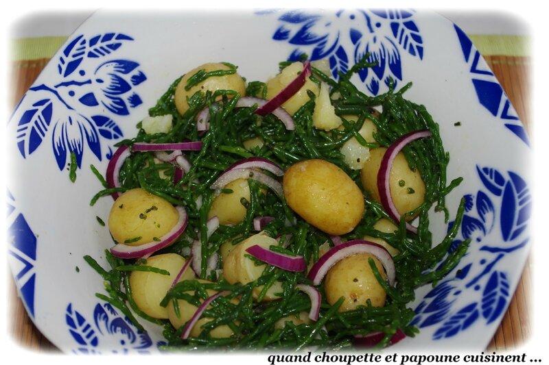 salade de pommes de terre grenailles à la salicorne-9611