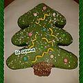 Gâteau sapin de noël/christmas tree cake
