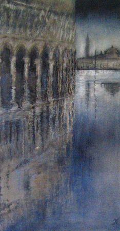 acqua alta 2012 acryl sur bois 80x40