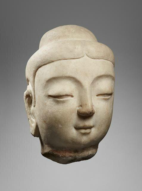 Head of Buddha, China, Sui dynasty, 6th c