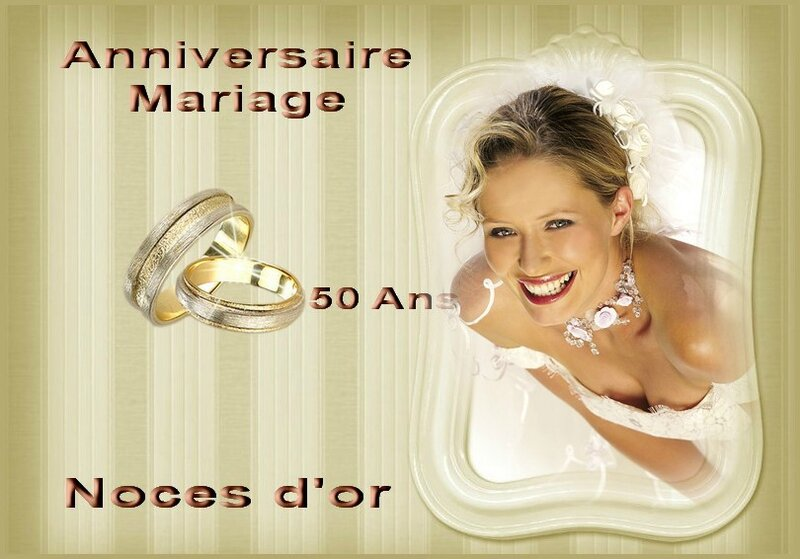 anniversaire de mariage 50 ans noces d 39 or photos leblog. Black Bedroom Furniture Sets. Home Design Ideas
