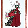 Carton Mousse La Dame a l'éventail 20x30 cm