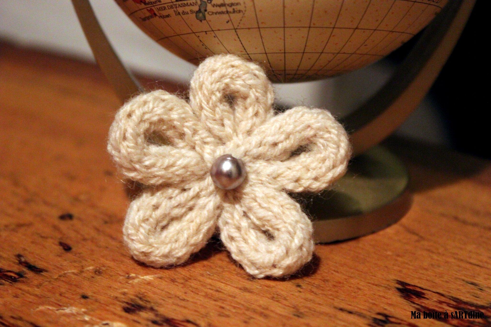 broche blanche photo de tricoti tricota et tricotin ma bo te a sartdine. Black Bedroom Furniture Sets. Home Design Ideas