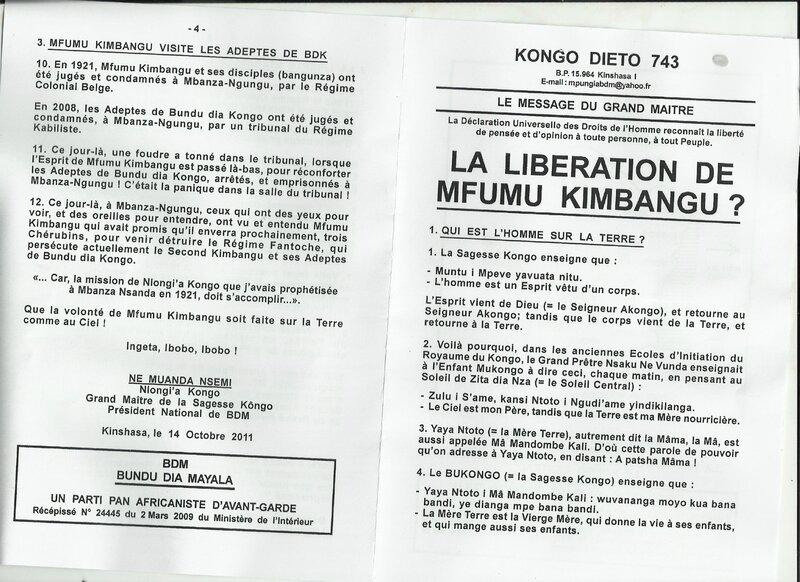 LA LIBERATION DE MFUMU KIMBANGU 1